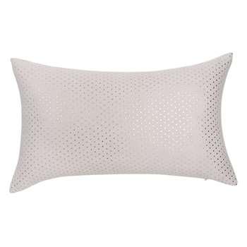 ROSYLVER Grey Fabric Cushion with Polka Dots (H30 x W50cm)