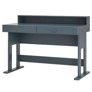 Rough Computer Desk in Grey (96 x 130cm)