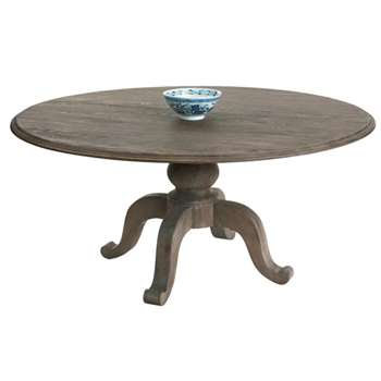 Round Arthur Dining Table, Burnt Oak (77 x 165cm)