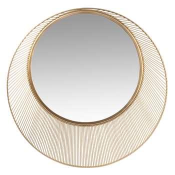 Round Iridescent Metal Mirror (Diameter 50cm)