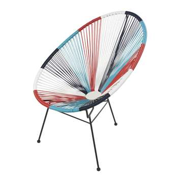 Round Multicoloured Garden Armchair Copacabana, Multicoloured (H89 x W71 x D84cm)
