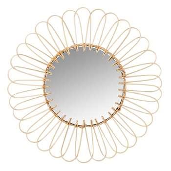 Round Rattan Mirror (H35 x W35 x D0.7cm)