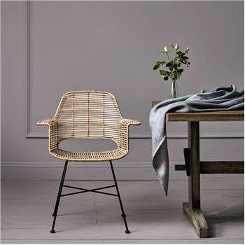 Round Rattan Tub Chair In Natural (86 x 67cm)