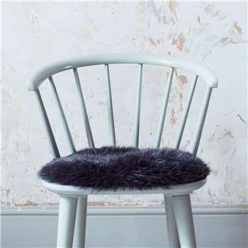 Round Steel Sheepskin Seat Pad (H37 x W37cm)