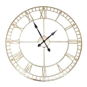 Round Wall Clock Antique Gold (Diameter 80cm)