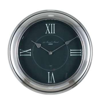 Round Wall Clock Silver (Diameter 35cm)