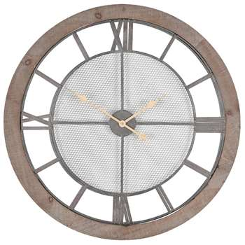 Round Wood Wall Clock (Diameter 80cm)