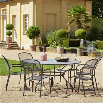 Royal Garden Carlo 6 Seat Table and Chair Set - Large