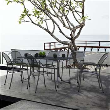 Royal Garden Carlo 6 Seat Table and Chair Set - Small