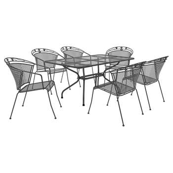 Royal Garden Elegance 6 Seat Rectangular Table and Chair Set