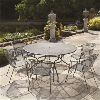 Royal Garden Elegance 6 Seat Round Table and Chair Set