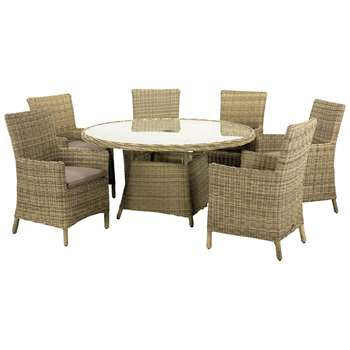 Royalcraft Wentworth Carver 6-Seater Outdoor Dining Set