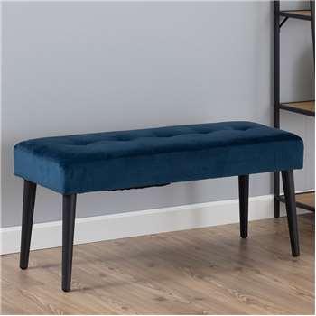 Ruby Bench - Navy Blue Velvet (H45 x W95 x D38cm)