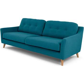 Rufus 3 Seater Sofa, Rich Azure (81 x 200cm)