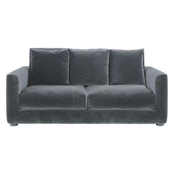 Rupert Dark Grey Velvet 2 Seater Sofa Bed - 86 x 130cm