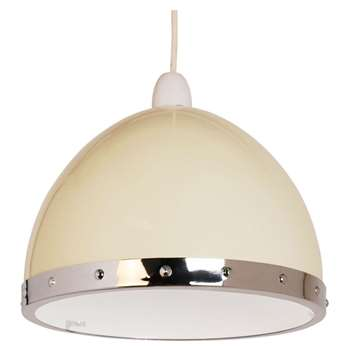 Rupert Pendant Light Shade Cream (H17 x W24 x D24cm)