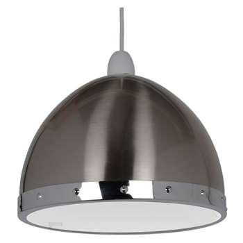 Rupert Pendant Light Shade Silver (H17 x W24 x D24cm)