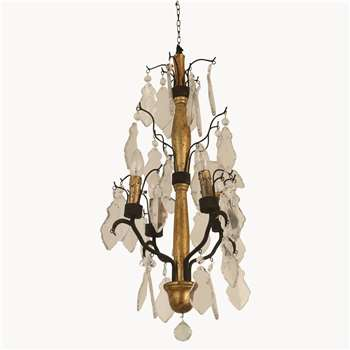 Rutland Chandelier in Gold Finish (70 x 38cm)
