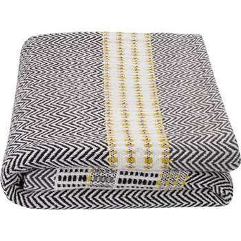 Ryker Cotton Woven Throw, Grey Multi (H130 x W170cm)