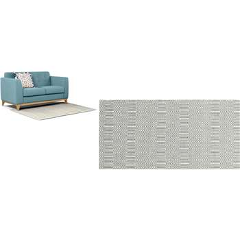 Ryker Large Rug, Grey and White (160 x 230cm)