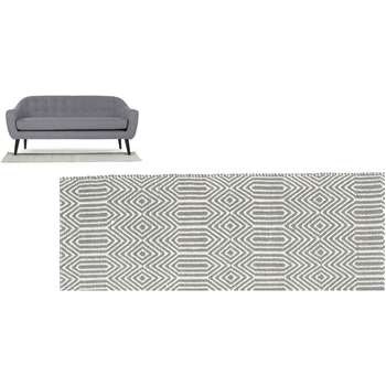 Ryker Runner, Grey and White (66 x 200cm)
