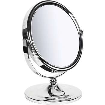 Sabichi New York Round Freestanding Mirror - Chrome (20.5 x 16.5cm)