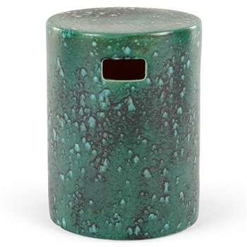 Sacha Garden Stool, Turquoise (H43 x W33 x D33cm)