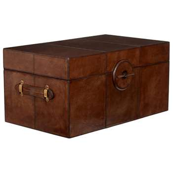 Saddle Leather Trunk, Large - Nut Brown (38 x 79cm)