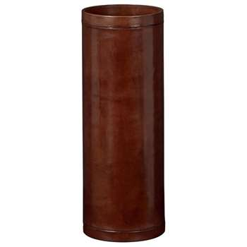 Saddle Leather Umbrella Stand - Nut Brown (56 x 21cm)