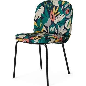 Safia Dining Chair, Curator Print & Black Legs (H82 x W50 x D59cm)