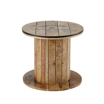 SAILOR Mango wood cable reel side table (47 x 50cm)