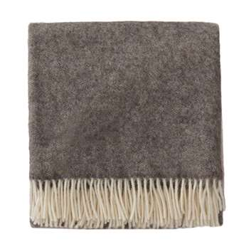 Salakas Wool Blanket, Brown, Grey & Cream (140 x 220cm)