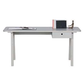Sammie Desk by Woood - Warm Grey (H74 x W160 x D65cm)