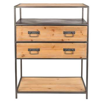 Samuel Industrial Console Table (H90 x W70 x D38cm)