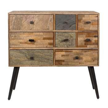San Recycled Teak Cabinet (H90 x W92 x D31cm)