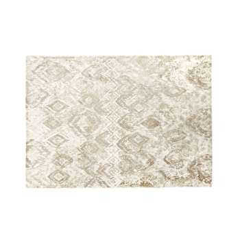 SAND Woven Sand-Coloured Rug with Graphic Print (H140 x W200 x D2cm)