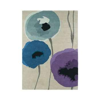 Sanderson - Poppies Indigo/Purple Rug - 140x200cm