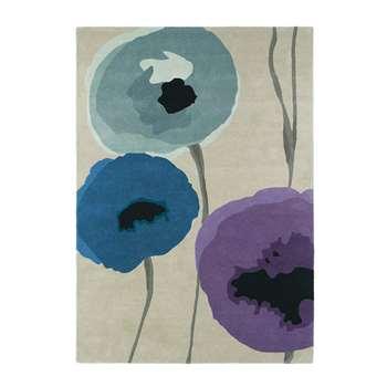 Sanderson - Poppies Indigo/Purple Rug - 170x240cm