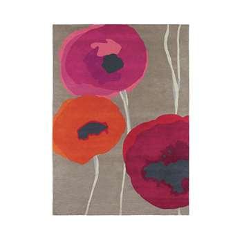 Sanderson - Poppies Red/Orange Rug - 140x200cm
