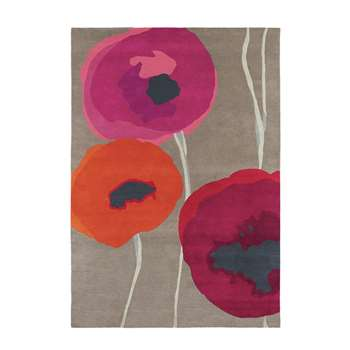 Sanderson - Poppies Red/Orange Rug - 170x240cm