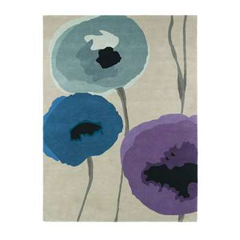Sanderson Poppies Rug, Indigo/Purple (280 x 200cm)