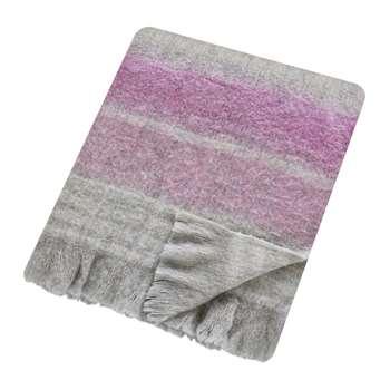 Sanderson - Wisteria Falls Lilac & Grey Blanket (H140 x W185cm)