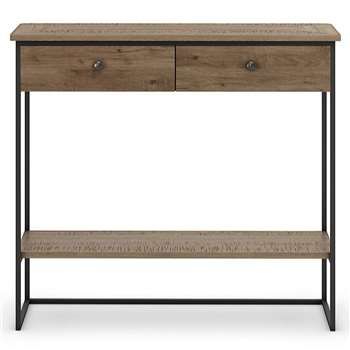 Sanford Parquet 2 Drawer Console Table (H90 x W100 x D33.5cm)