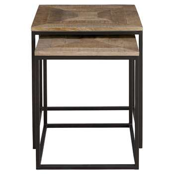 Sanford Parquet Nest of Tables, Dark (50 x 45cm)