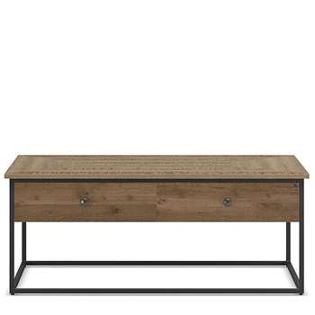 Sanford Parquet Storage Coffee Table, Dark Brown (H40 x W100 x D60cm)