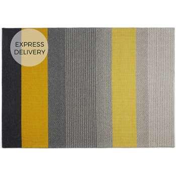 Sanlow Textured Stripe Large Rug, Mustard Yellow (H160 x W230 x D1.7cm)