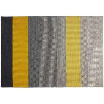 Sanlow Textured Stripe Rug, Small, Mustard Yellow (H120 x W170cm)