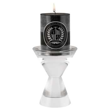 Sans Crystal Candle Holder (H14 x W11 x D11cm)