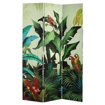 Santana - Tropical Print Room Divider (H180 x W121 x D2cm)