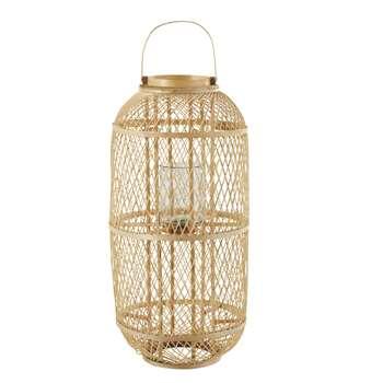 SANTOS Woven Rattan Lantern (H84 x W42 x D42cm)